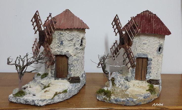 Moulins en carton pour la crèche de Noël