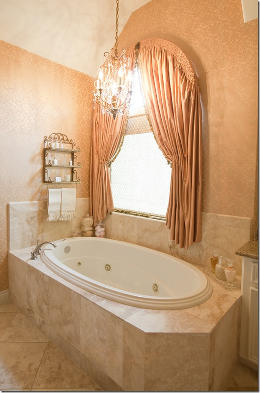 91 best images about master bath remodel on pinterest for Master bathroom curtains