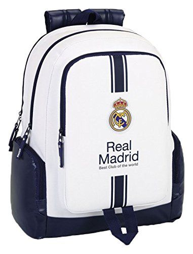 Safta SF-611654-795 - Mochila grande 43 cm con compartimento para portatil, 1ª equipacion temporada 2016/2017, diseño Real Madrid %TEXT https://images-eu.ssl-images-amazon.com/images/I/41p2-W8bkqL.jpg