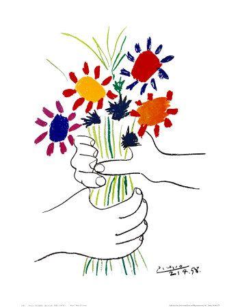Petite Fleurs ~ Picasso . . . . ღTrish W ~ http://www.pinterest.com/trishw/ . . . . #art #painting