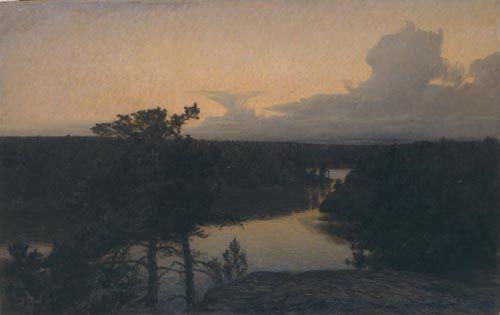 Prince Eugen : Det klarnar efter regn, 1904, Olja på duk