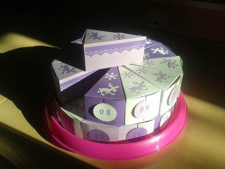 Advent calendar cake