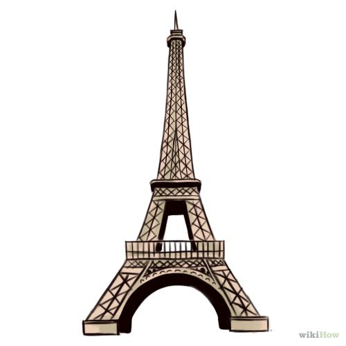 how to draw the eiffel tower with a background