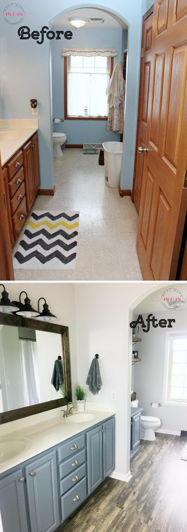 Diy farmhouse style fixer upper bathroom on a budget - Diy badezimmer ...