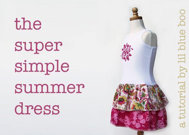 supersimplesummerdressSummer Dresses, Simple Dresses, Dresses Tutorials, Diy Tutorials, Diy Tanks Tops Dresses, Tanks Tops Dresses Diy, Easy Tanks Dresses, Kids Clothing, Diy Girls