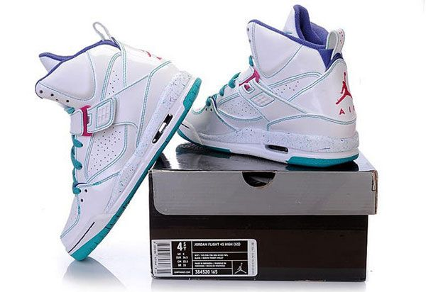 nike colorful jordans flight 45 high white purple everything pinterest nike jordans and purple - Colorful Jordan Shoes