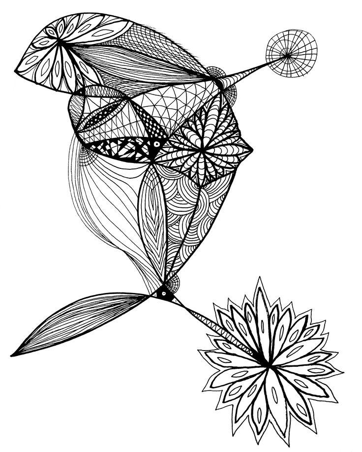 Big Fish #zentangle #selfmade #mandala #patterns #asymmetry #handmade #art #drawing #selfmade #black and white