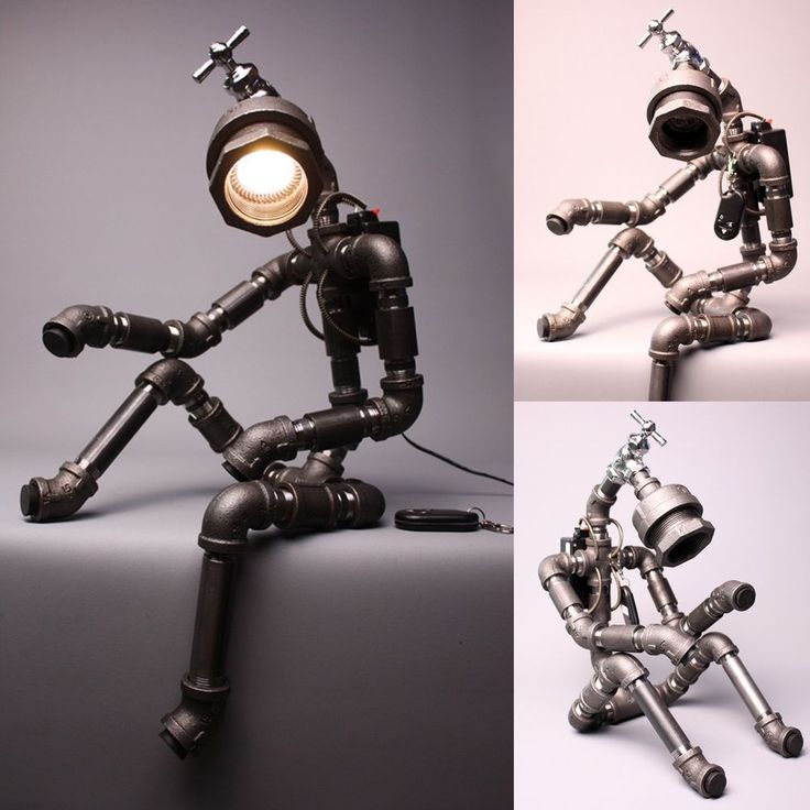Desk Light Lamp Home Decor Lighting Table Lamp Handmade Faucet Robot Light ver.2 in Collectibles, Lamps, Lighting, Lamps: Electric | eBay