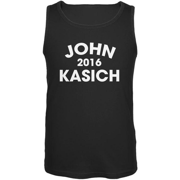 Election 2016 John Kasich Varsity Black Adult Tank Top
