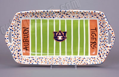 Auburn Universtity Tiger Tailgate Stadium Platter - Perfect for a gift or for your own party!
