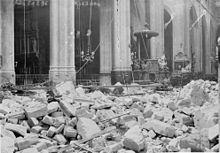 Paris 4e - Église Saint-Gervais-Saint-Protais après le bombardement du 29 mars 1918.
