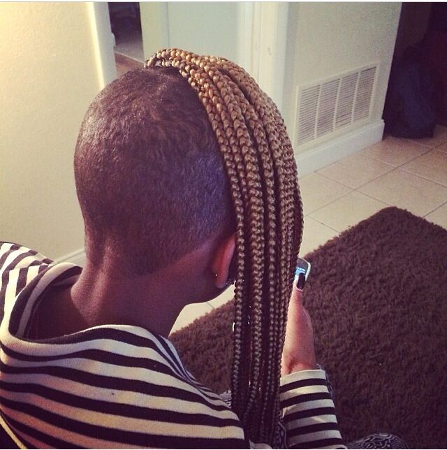 Shaved With Braids Braids With Fades Pinterest