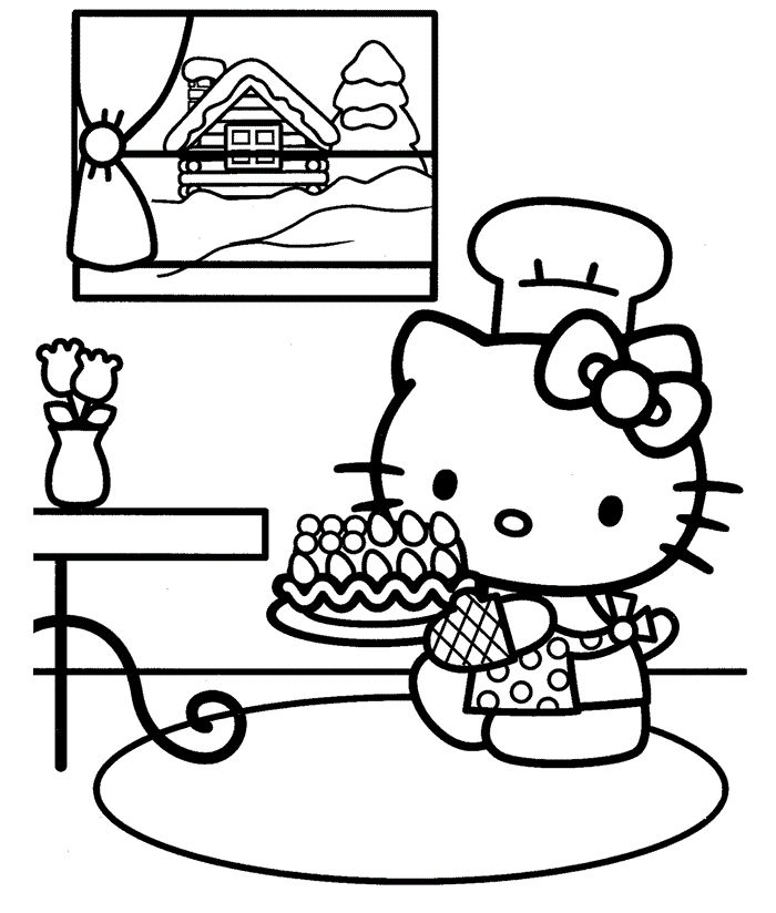 1000+ images about Hello Kitty Coloring Pages on Pinterest