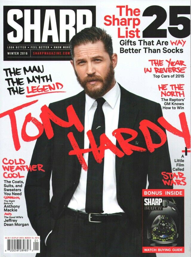 Sharp magazine Tom hardy photos, Tom hardy, Tom hardy hot