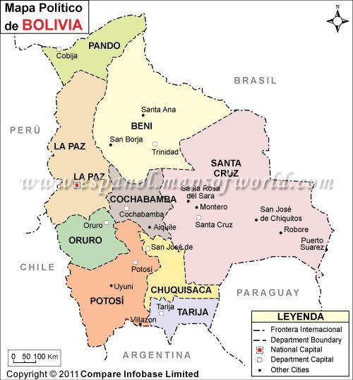 El Mapa Politico de Bolivia