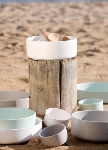 Mint Home | Sienna Shallow Bowl in Cement Grey