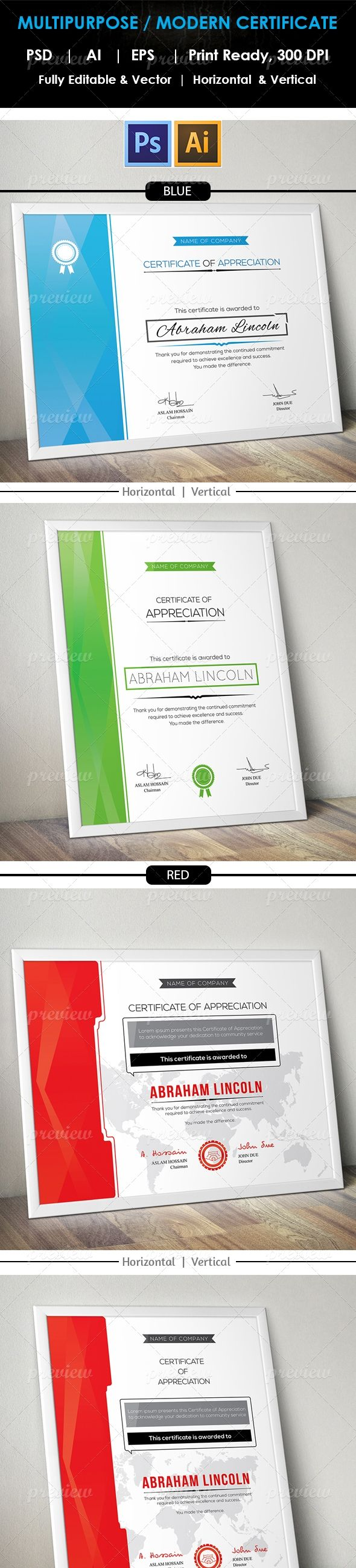 47 best certificate design images on pinterest certificate design modern multipurpose certificate v 01 yelopaper Images