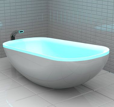 LED Glowing Bathtub To Create A Home Spa | Interior Design  I need this in my bathroom.