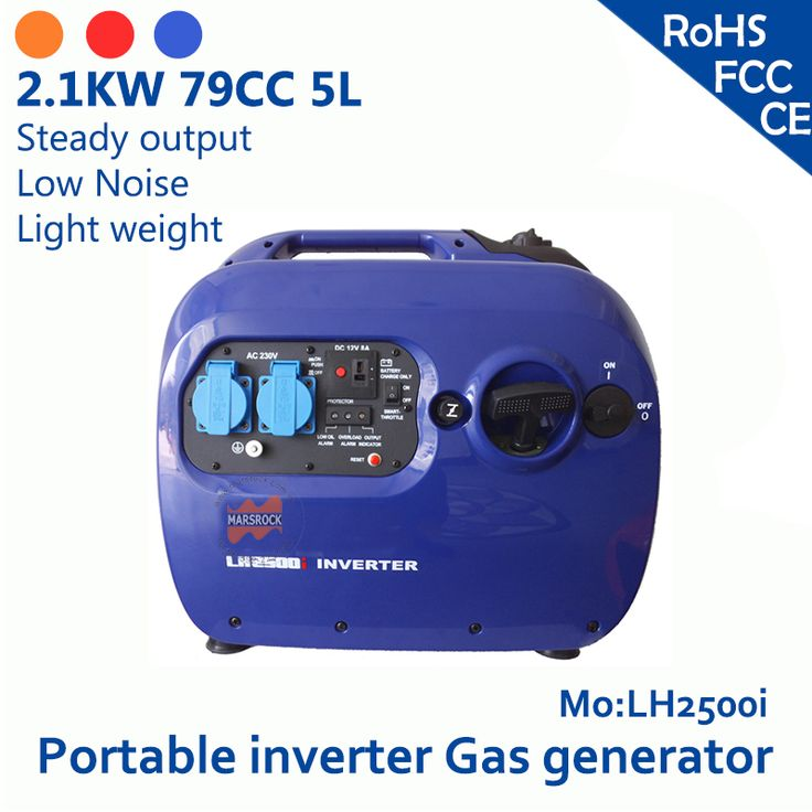 2.4KW 79cc 5L 120V or 230V simple operation easy inspection the color can be customized 8A small portable inverter gas generator #Affiliate