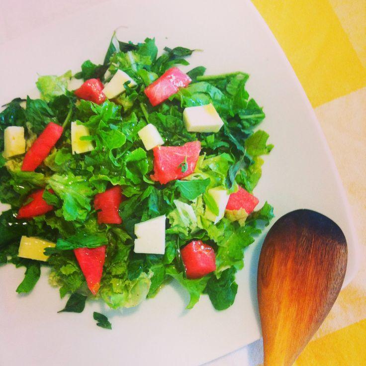 Οι καλύτερες συνταγές μου... με μπαχαρικά και μυρωδικά: Πράσινη σαλάτα με καρπούζι και φρέσκιες μυρωδιές
