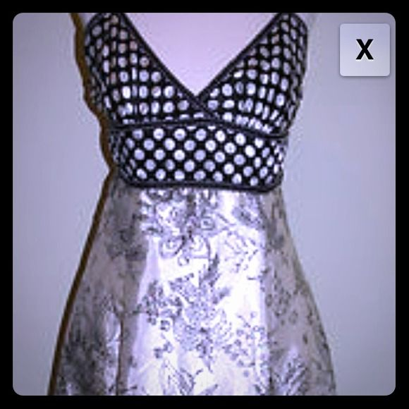 """REDUCED"" Forever - black and white satin dress!! Super cute summer dress for any occasion!!   Dresses"