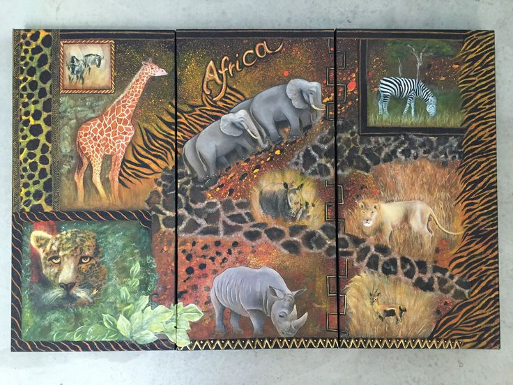 African Tryptich by MariaCelestialArts on Etsy