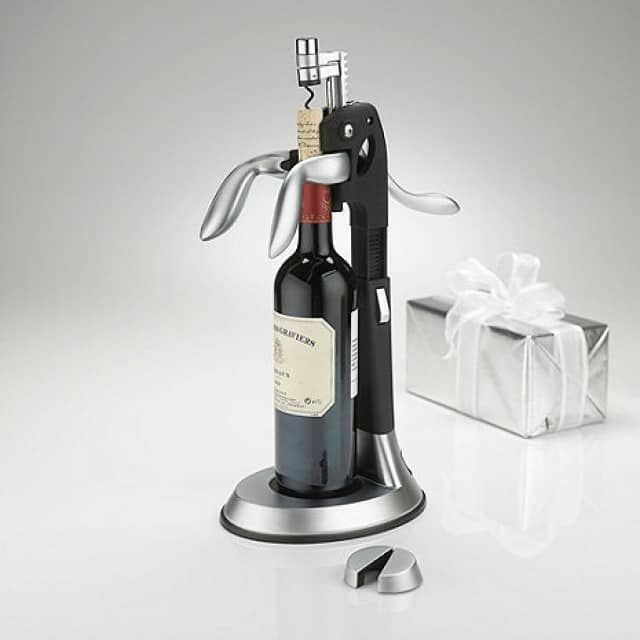 Deluxe Silver Tower Corkscrew - Bacchus Wine Cellars