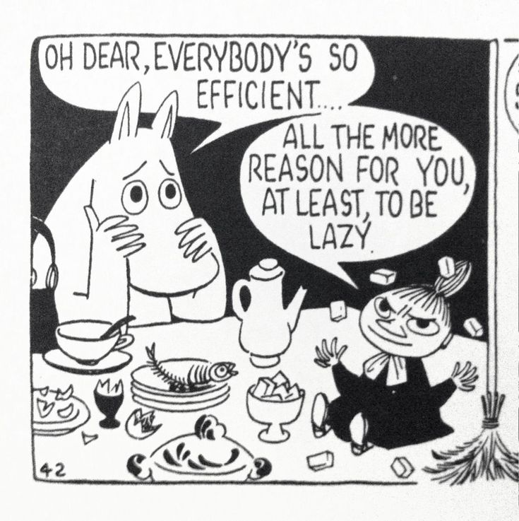 Moomins, via Tom Ewing