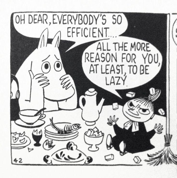 Moomins, via Tom Ewing