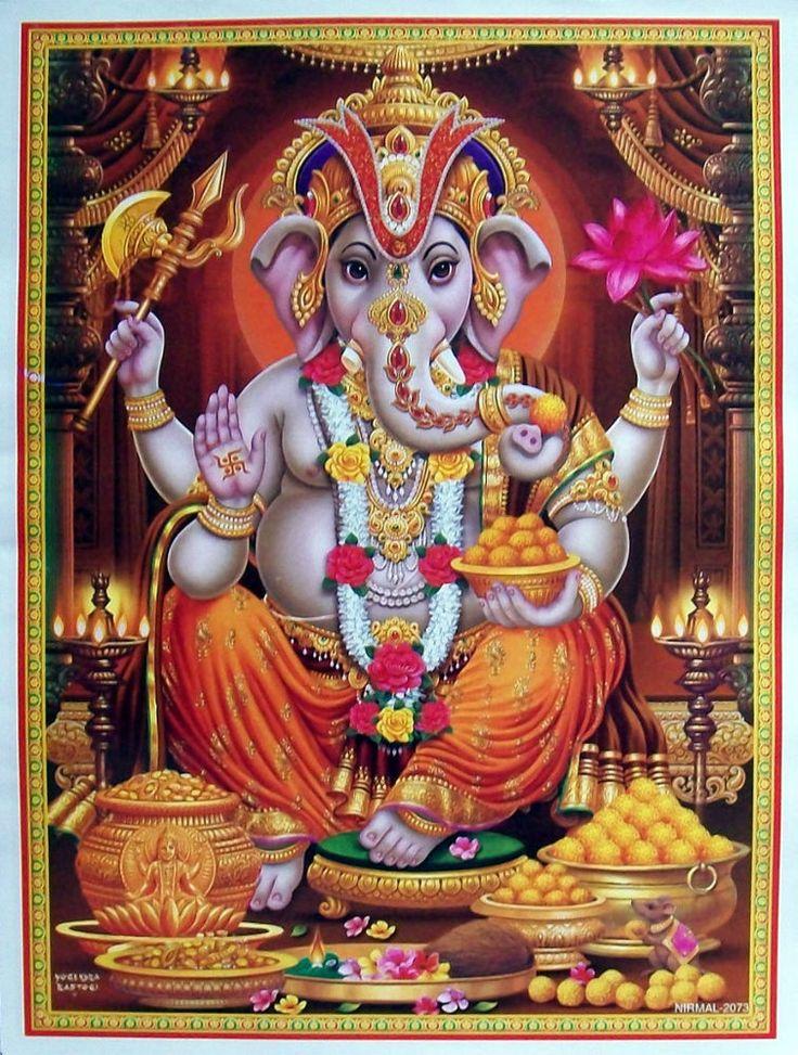 """Lord Ganesha Shree Ganesh - Poster - 9""""x11"""" (#2073)"""