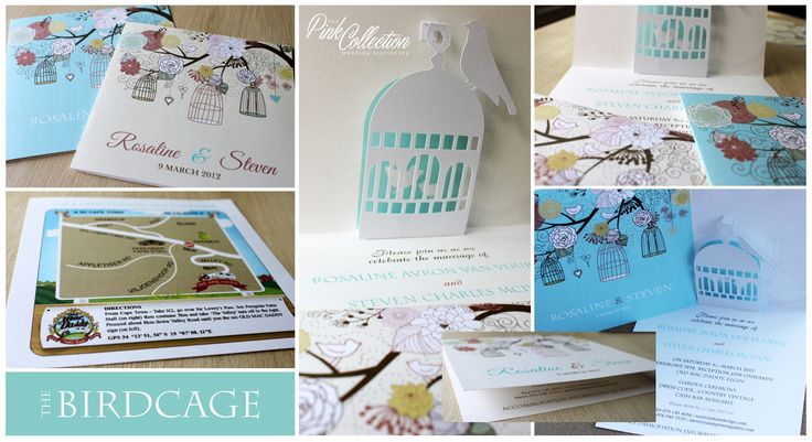 For the love of all things whimsical! Turquoise and cream delight with a birdcage cutout.