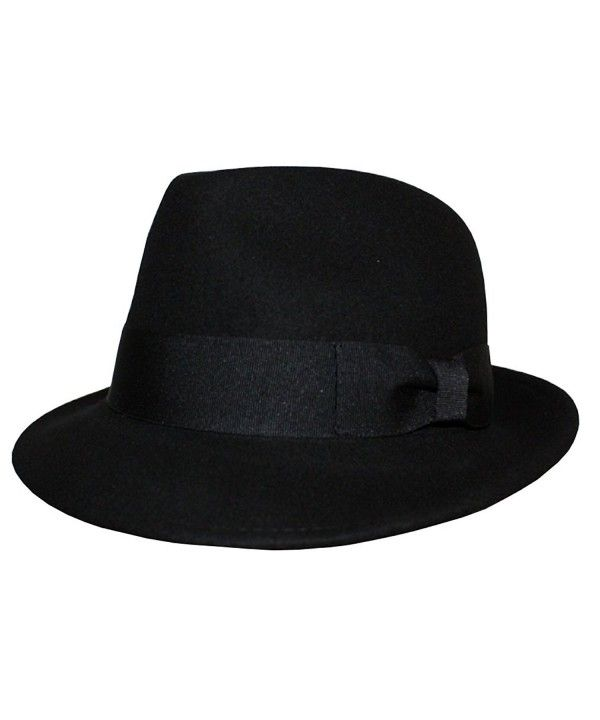 ccce4620f24 Hats & Caps, Men's Hats & Caps, Fedoras, Differenttouch Men's 100% Wool Felt  Soft & Crushable Stingy Brim Trilby Fedora Hats HE02 Black CU11OQDX9LV #Men  ...