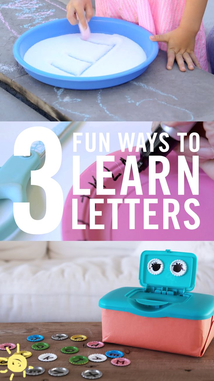 There are so many ideas, but here are three that we tried and loved. Btw, as an unintended consequence, Ford now knows most of his letters, so start them young with these play-based activities!