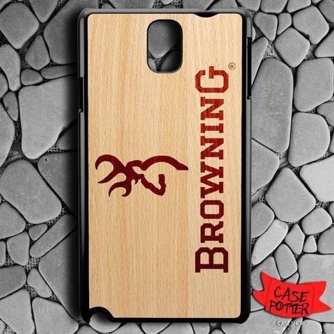 Browning Deer Wood Texture Samsung Galaxy Note 3 Black Case