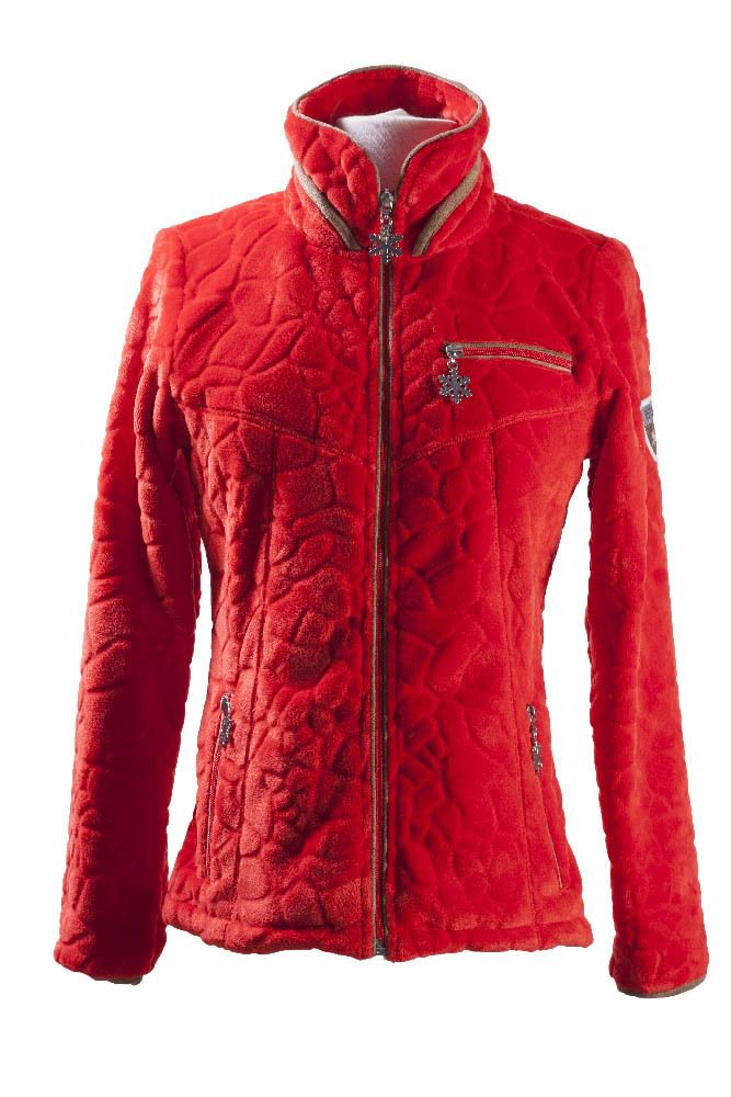 veste polaire femme innsbruck rouge - Veste Colore Femme