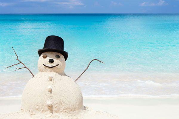 Sand snowman on the beach | Sheknows.com.au | Isabella's ...