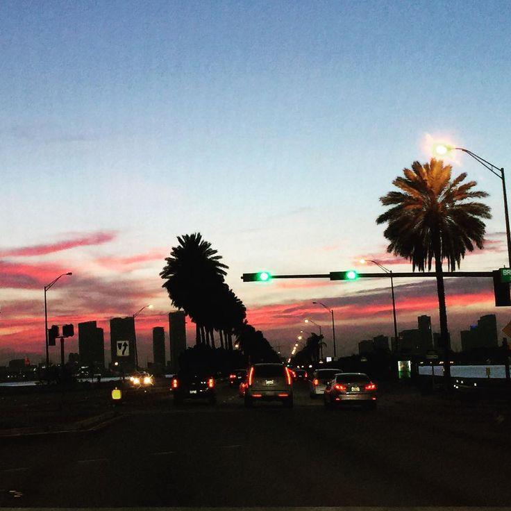 Sunset from Miami Beach