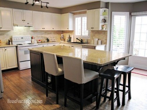 paint color is Benjamin Moore Alexandria Beige and the cabinet paint