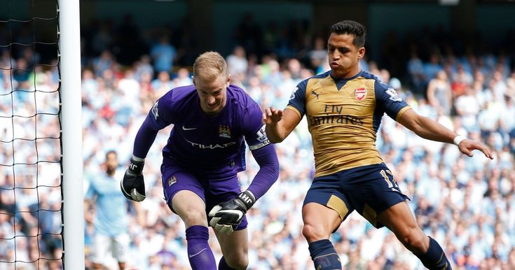 Hart was seen sniggering when a Gael Clichy back pass hit the post and went out for a corner - which the Gunners eventually scored from