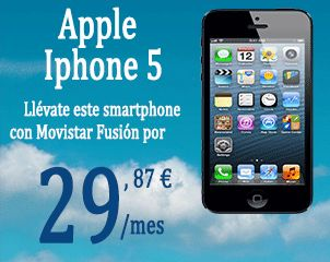 Apple-Iphone-5 con Movistar Fusion desde 29,87€