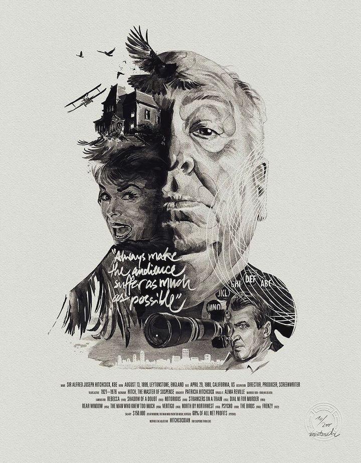 Hitchcock pelo estúdio Stellavie