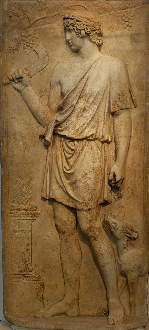 Antinous as Dionysos, Roman. 130-138AD