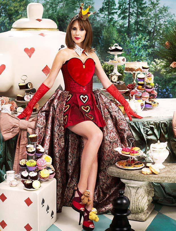 The One Show presenter Alex Jones as the Queen of Hearts from Alice in Wonderland for Children in Need photoshoot