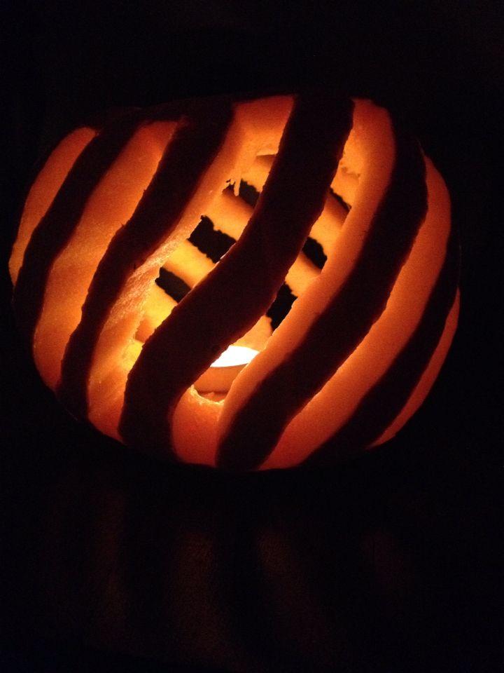 Stripey pumpkin.