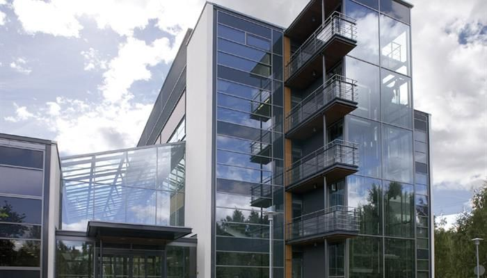 High Performance Glass Facade : Stainless steel and glass in outokumpu head office