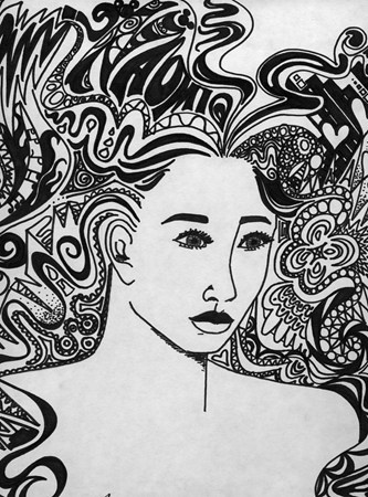 168 Best Images About Zentangle Hair On Pinterest