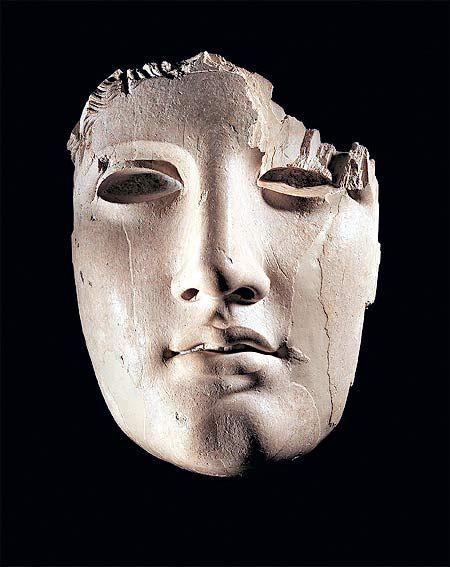 Apollo ivory mask. Fifth century BC.