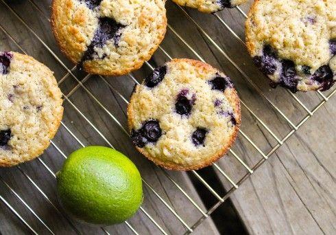 Blueberry Lime Oatmeal Muffins | TheFoodCharlatan.com