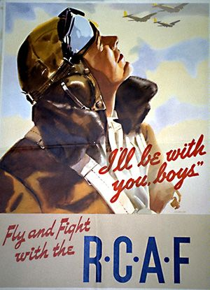 Fly with the Royal Canadian Air Force! ww2 recruiting poster