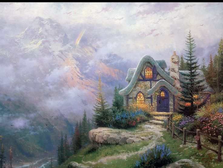 93 best cottages images on pinterest cottage art for Cottage in the mountains